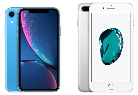 iPhone 7 Plus vs iPhone XR
