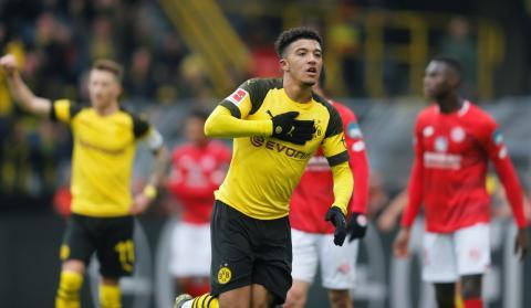 Jadon Sancho, jugador inglés del Borussia de Dortmund