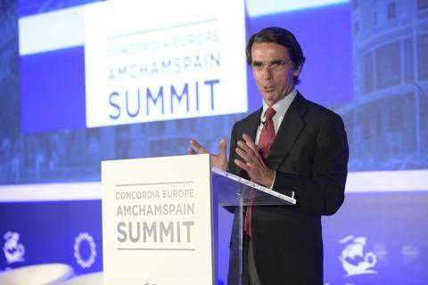José María Aznar, en el AmChamSpain.