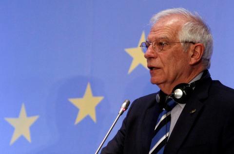 El ministro de asuntos exteriores en funciones, Josep Borrell, este jueves en Nicosia (Chipre).