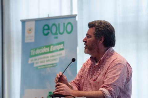 Juantxo López de Uralde en el congreso de Equo de 2014.