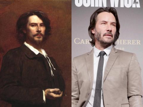 Keanu Reeves se parece mucho a un actor de hace 150 años.