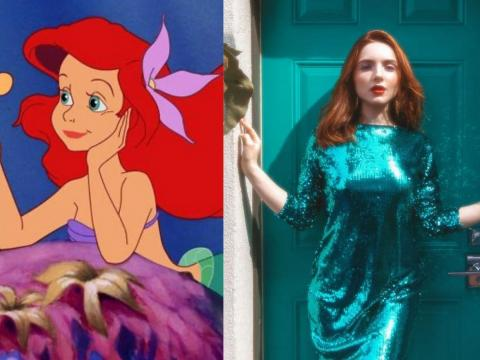 "Kobeissi also gave a fresh take to ""The Little Mermaid"" with a glittery dress that resembles Ariel's mermaid tail."