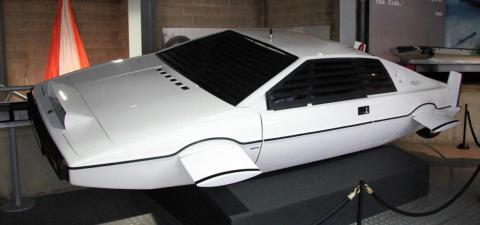 The Lotus Esprit or 'Wet Nellie' on display at the National Motor Museum.