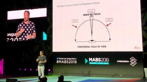 El emprendedor, autor y conferenciante Yuri van Geest, en el MABS 2019.