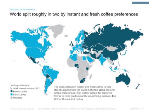mapa consumo café