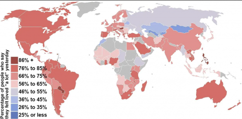 mapa donde la gente se siente más amada