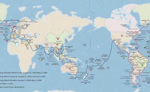 Mapa Viking Cruises