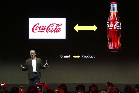 Marcos de Quinto, durante una charla de Coca Cola en París.