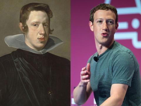 Mark Zuckerberg se parece mucho a Felipe IV