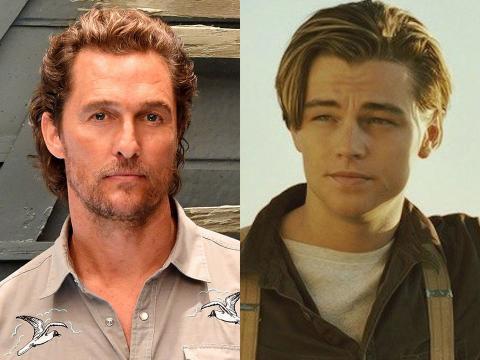 Matthew McConaughey y Leonardo DiCaprio.