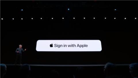 El nuevo botón de inicio de sesión con Apple te permitirá usar aplicaciones o servicios sin ofrecer ninguna información personal.