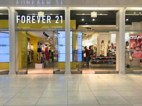 Next, we took the escalator down to the lower level to visit Forever 21...