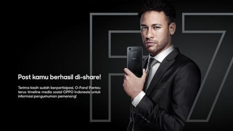 Neymar, en un anuncio de Oppo en Indinesia para promocionar su smartphone F7