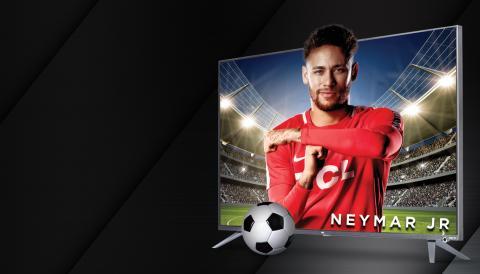 Neymar en un anuncio de un televisor TCL