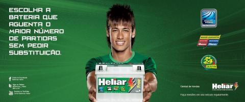 Neymar en una campaña publicitaria de Heliar