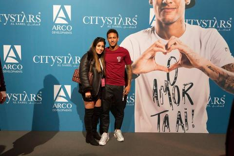 Neymar, durante un evento de Arco en Egipto