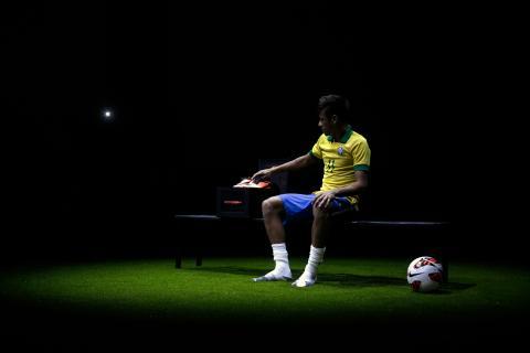 Neymar en la presentación de las botas Hypervenom de Nike