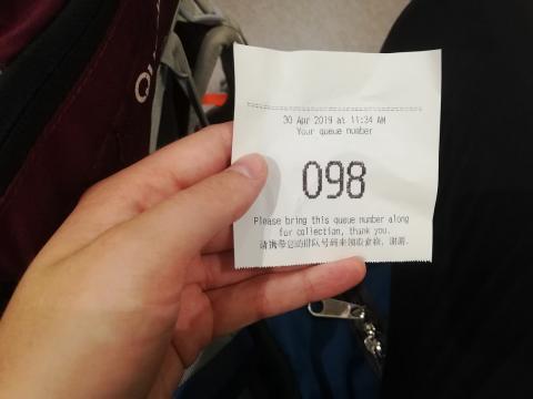 número de pedido restaurante con estrella Michelín en Singapur