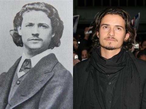 Orlando Bloom se parece mucho a uno de los fundadores de la pintura rumana moderna.