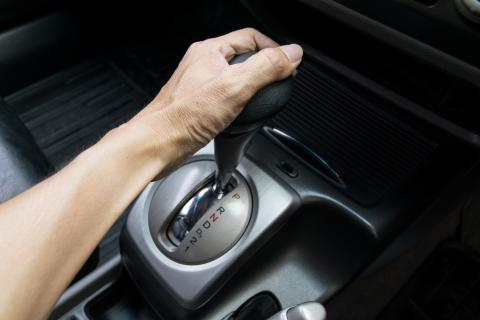 Otra palanca de cambio en coches automáticos.