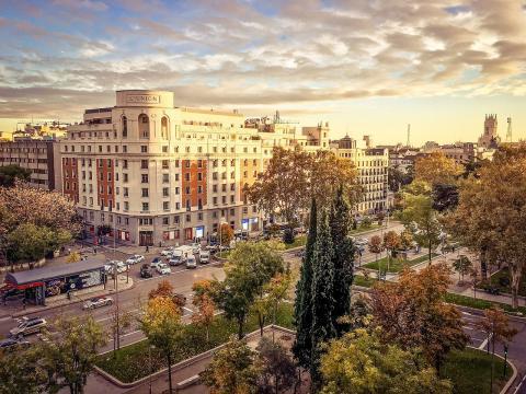 El Paseo de Recoletos, en Madrid