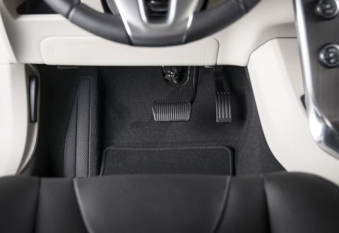 Los pedales de un coche automático.