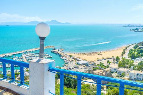 Playa de Sidi Bou Said, en Túnez