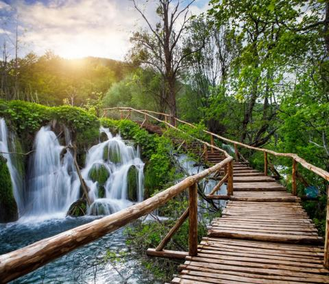 Plitvice Lakes National Park.