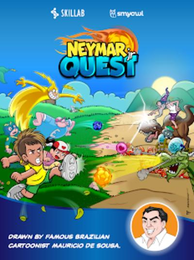 Portada del juego Neymar Quest, de Skillab
