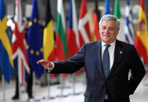 El presidente de la Eurocámara hasta el 30 de junio de 2019, Antonio Tajani