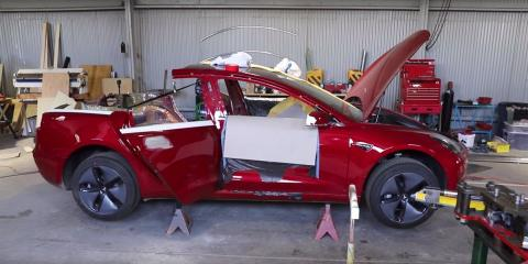 Proceso de fabricación de la furgoneta Tesla