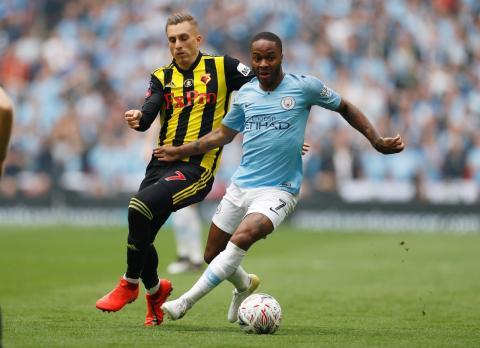 Raheem Sterling, jugador inglés del Manchester City