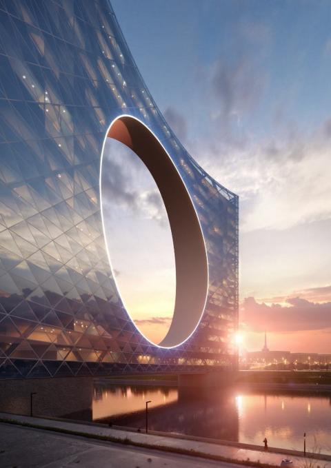 Este rascacielos con un agujero en el centro te dejará con la boca abierta