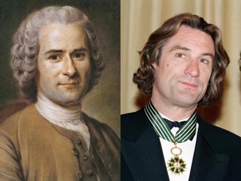 Robert De Niro se parece mucho al filósofo de la Ilustración Jean-Jacques Rousseau.