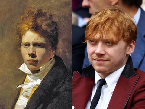 Rupert Grint se parece a otro artista británico, de hace 200 años.