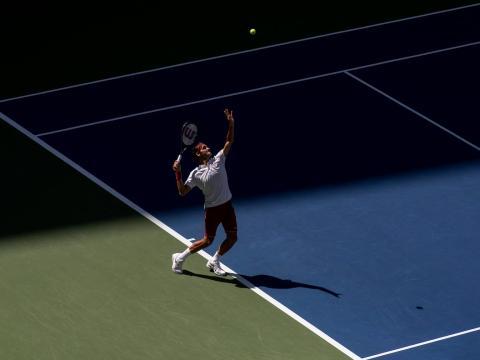 El saque de Federer es perfecto