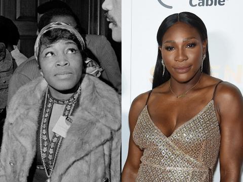 Serena Williams se parece a la defensora de los derechos civiles Betty Shabazz.