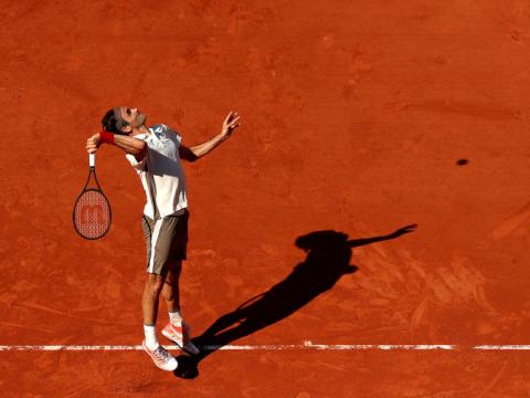 The shadows are dramatic at the 2019 French Open.
