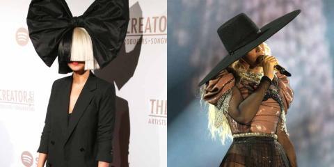 Sia y Beyoncé en 2016.