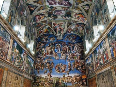 En la Capilla Sixtina en la Ciudad del Vaticano (Roma) no se pueden hacer fotos.