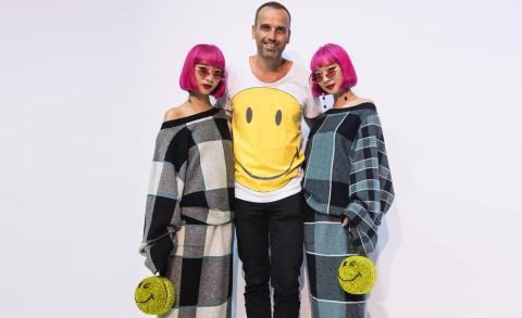 Smiley en Fashion Show Milan