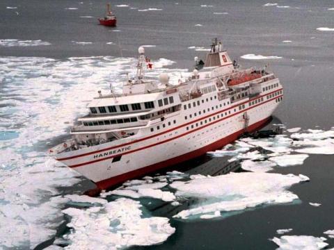 The Hanseatic cruise ship.