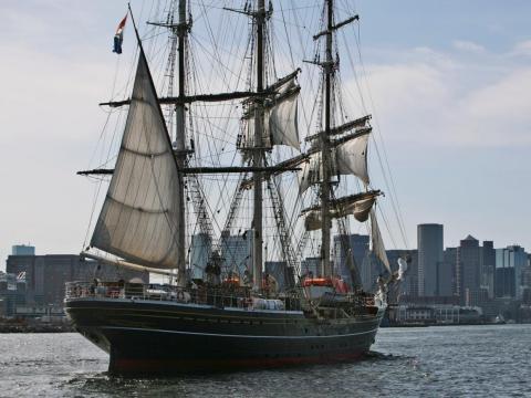 The Stad Amsterdam cruise ship.