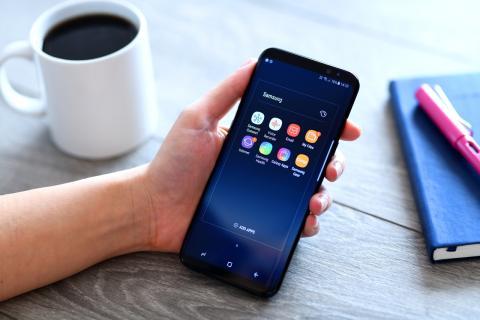 Un teléfono Samsung