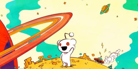 Mascota icónica de Reddit.