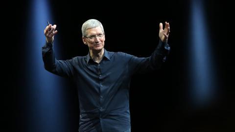 Tim Cook, CEO de Apple, en la conferencia para desarrolladores WWDC celebrada en 2014.