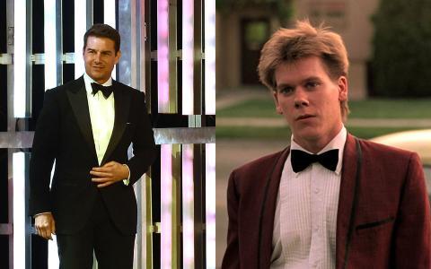 Tom Cruise y Kevin Bacon.