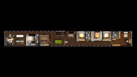 Al igual que una casa normal, este búnker tiene dos pisos. En la primera planta hay varios dormitorios, una mesa de billar y un cine.