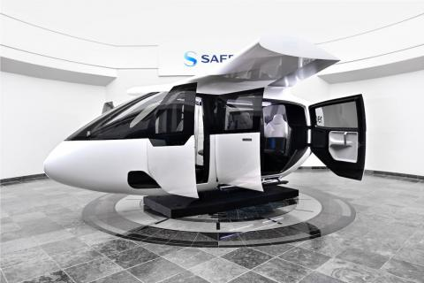 Uber Air ha colaborado con la empresa Safran Cabin para diseñar un prototipo a escala completa de sus cabinas.